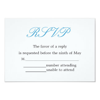 Recepción nupcial simple y elegante RSVP Comunicado