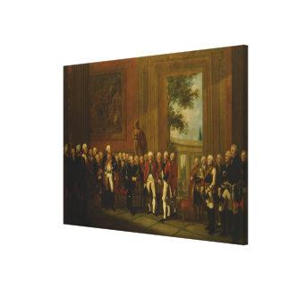 Recepción para el duque de York en Sanssouci Impresion De Lienzo
