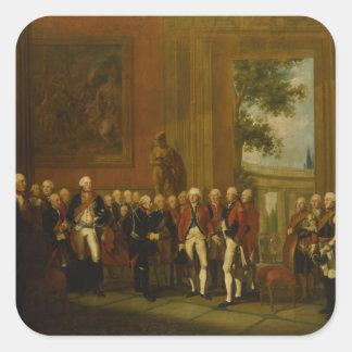 Recepción para el duque de York en Sanssouci Pegatina Cuadrada