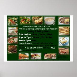 Recepción para ________________Kitchen la impresió Póster