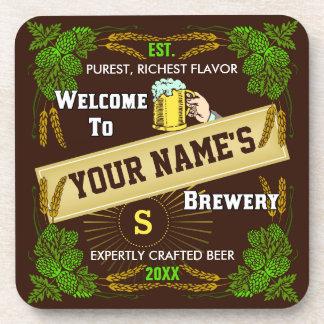 Recepción personalizada de la cervecería: Cerveza Posavasos De Bebidas