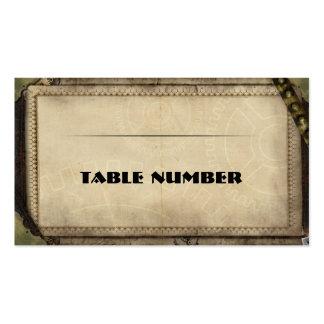 Recepción Placecards. de Steampunk del Victorian Tarjeta De Visita