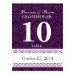 Recepción púrpura de la tarjeta del número de la t tarjeta postal