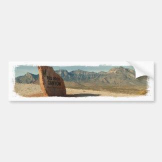 Recepción roja de la roca; Ningún texto Pegatina De Parachoque