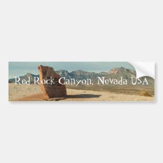 Recepción roja de la roca; Recuerdo de Nevada Pegatina De Parachoque