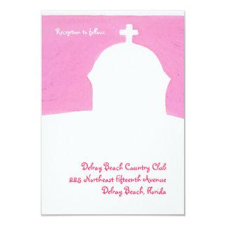 """Recepción rosada de la iglesia invitación 3.5"""" x 5"""""""