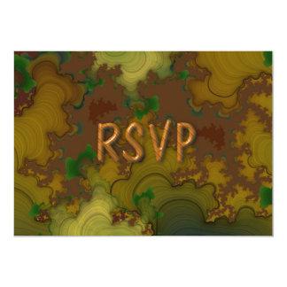 """Recepción RSVP del fractal de Camo Invitación 5"""" X 7"""""""
