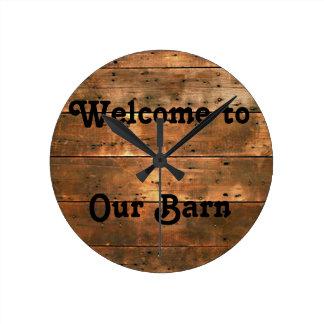 Recepción rústica a nuestro reloj del granero