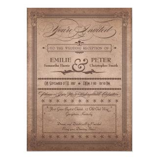 Recepción rústica del cacao del poster del vintage invitación personalizada