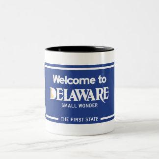 Recepción señal de tráfico de Delaware - los Taza De Café De Dos Colores