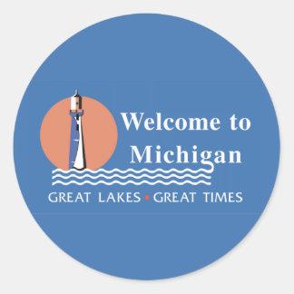 Recepción señal de tráfico de Michigan - los Etiquetas Redondas