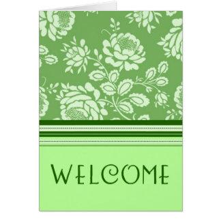 Recepción verde del empleado a la tarjeta del equi
