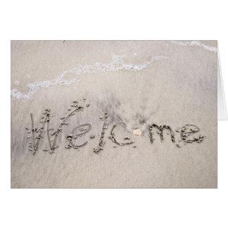 Recepciones de los alquileres de la playa tarjeta de felicitación