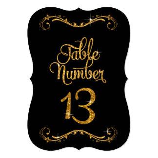 """Recepciones de lujo del número 13 de la tabla del invitación 5"""" x 7"""""""