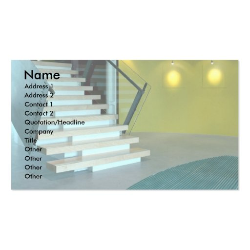 Reception area and staircase for Business Design S Business Card