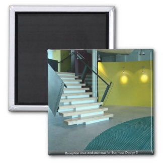 Reception area and staircase for Business Design S Refrigerator Magnets