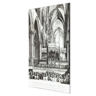 Reception  at the Commemoration of Handel Canvas Print