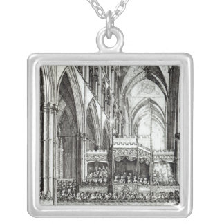 Reception  at the Commemoration of Handel Square Pendant Necklace