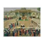 Reception at the Court of Sultan Selim III Stretched Canvas Print