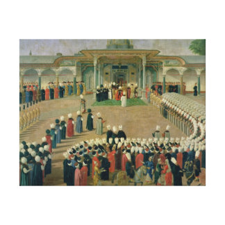Reception at the Court of Sultan Selim III Canvas Print