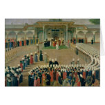 Reception at the Court of Sultan Selim III Card