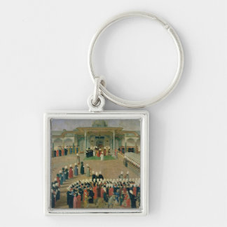 Reception at the Court of Sultan Selim III Keychain
