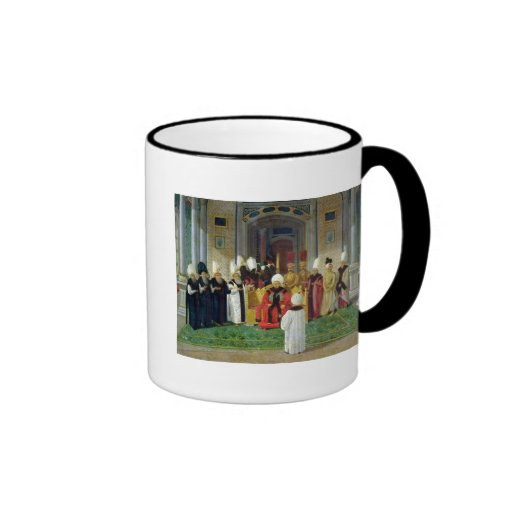 Reception at the Court of the Sultan Selim III Ringer Coffee Mug