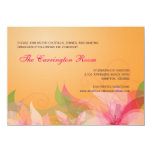 Reception Card Abstract Floral Wedding Invitations