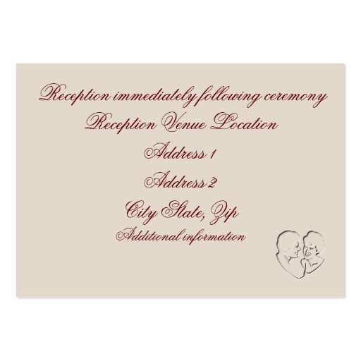 Reception card/Because Two People Fell In Love Business Card Templates