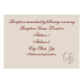Reception card/Because Two People Fell In Love Large Business Card