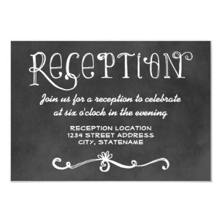 Reception Card | Black Chalkboard Charm