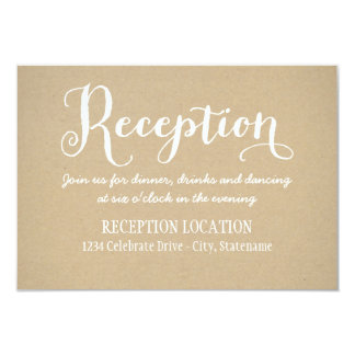 Reception Card | Kraft Brown