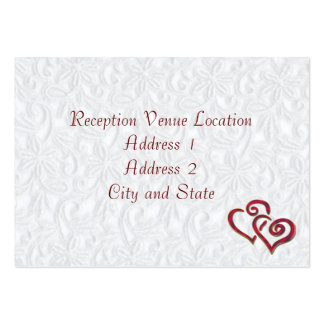 Reception Card Large Business Cards (Pack Of 100)