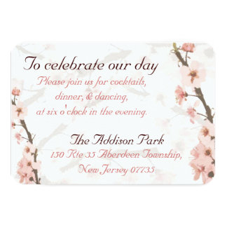 Reception card to match the Cherry Blossom invites