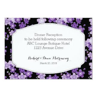 Reception Card WeddingCherry Blossom Purple Sakura