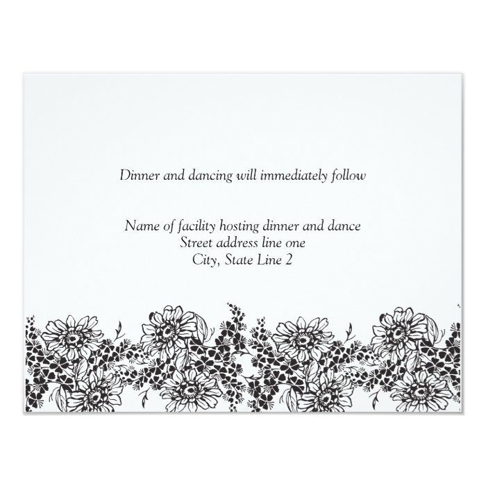 Reception Cards For Wedding Invitations