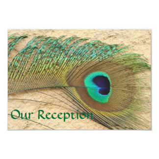 RECEPTION CARDS PEACOCK FEATHER MATCHING INVITATIO