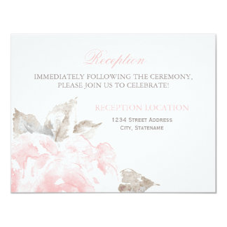 Reception Cards | Pink Watercolor Roses
