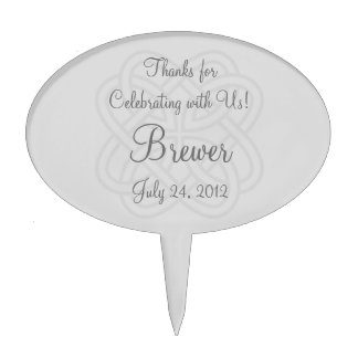 Reception Cupcake Toppers or Wedding Favor Labels Cake Picks