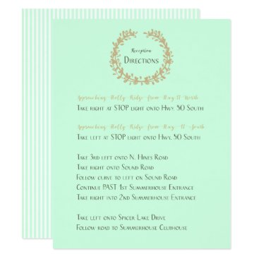 Beach Themed Reception Directions Card