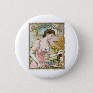 Reception Flakes Vintage Baking Ad Art Button
