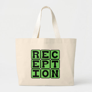 Reception Football Stat Canvas Bag