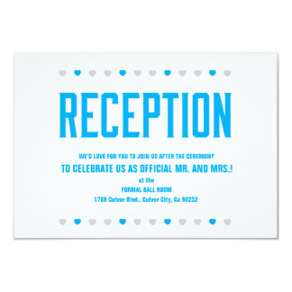 Reception Hearts Soon to Be Mr. & Mrs. -Customize Card