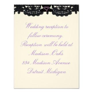 "Reception Invitation Design ""Doves And Ribbons"""