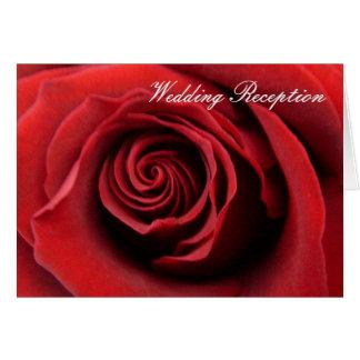 Reception  Invitation Red Rose Cards