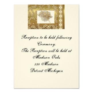 """Reception invitation  """"Wedding lasso"""" Design"""