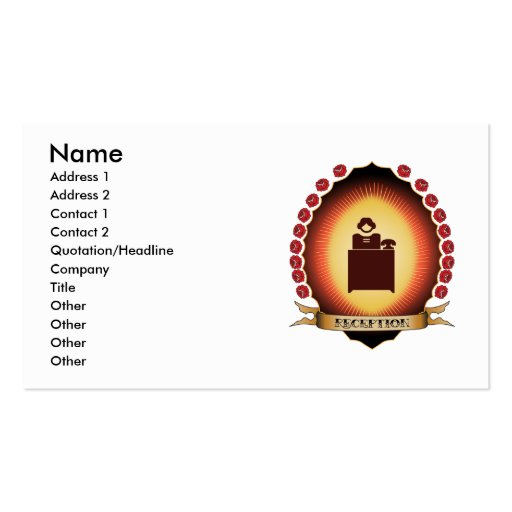 Reception Mandorla Double-Sided Standard Business Cards (Pack Of 100)