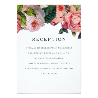 Reception MODERN Geometric Scroll Vintage Rose Card