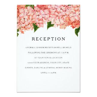 Reception MODERN Wide Stripe Vintage Hydrangea Card