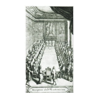 Reception of an Member of the French Academy Canvas Print